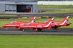 RAF Red Arrows at Prestwick Airport (29732853586).jpg