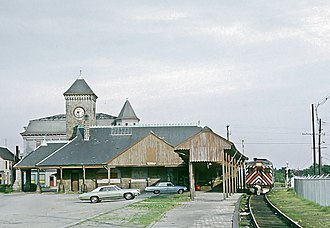 Stoughton station - A Penn Central Budd RDC at Stoughton in 1971