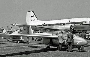 Rhein Flugzeugbau RW 3 Multoplan - The second prototype RW 3 Multoplan exhibited at the 1957 Paris Air Show