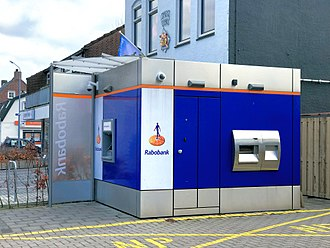 Rabobank - A Rabobank ATM in Nieuw-Vennep, The Netherlands