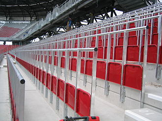 Safe standing - Rail seats in Klagenfurt, Austria