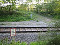 Railway crossing near Calvert - geograph.org.uk - 502391.jpg