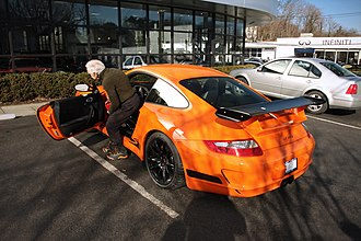 Ralph Lauren - Ralph Lauren with his Porsche GT3 RS (2010)