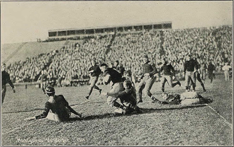 1911 Vanderbilt Commodores football team - Ray Morrison running against Michigan.
