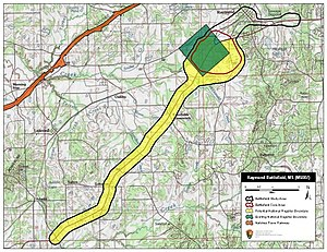 Battle of Raymond - Map of Raymond Battlefield core and study areas by the American Battlefield Protection Program.