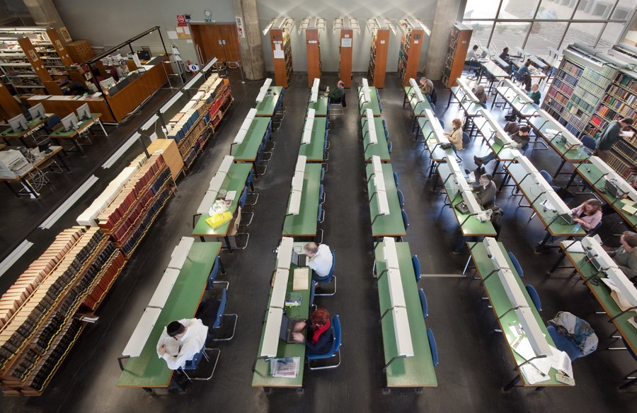 Reading room of the National Library of Israel