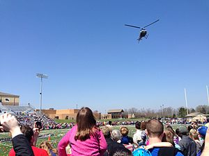 Springboro, Ohio - Each spring, Real Life Church hosts a free helicopter egg drop at Springboro High School (Ohio)