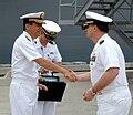 Rear Adm. Chikara Inoue shakes hands with Capt. Dennis Mikeska at San Diego, -8 May 2008 a.jpg