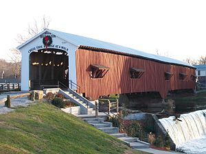 Bridgeton Covered Bridge - Rebuilt Bridgeton Covered Bridge (2006-Present)
