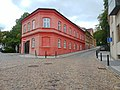Red triangular building.jpg