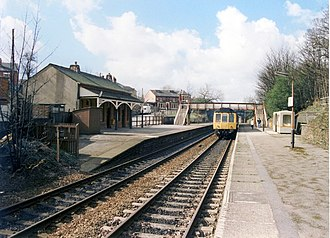 Reddish North railway station - Reddish North railway station in 1989