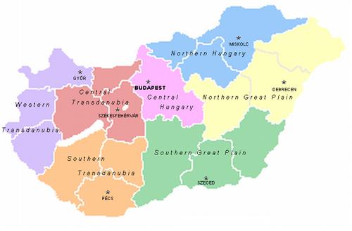 Oversigt over Ungarns regioner