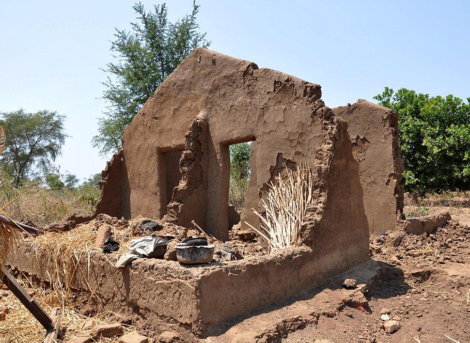 Remains of Edicas' mud hut, Karonga, north Malawi (4992504027)