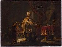 Rembrandt Harmensz. van Rijn (Dutch - Daniel and Cyrus before the Idol Bel - Google Art Project.jpg