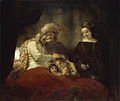 Rembrandt van Rijn - Jacob blessing Ephraim and Manasseh (Gemäldegalerie Alte Meister Kassel).jpg