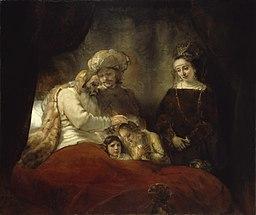 Rembrandt van Rijn - Jacob blessing Ephraim and Manasseh (Gemäldegalerie Alte Meister Kassel)