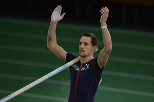 2016 IAAF World Indoor Championships – Men's pole vault - Renaud Lavillenie during competition