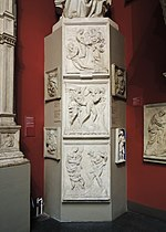Replicas of the Porta Magna of San Petronio, Bologna - in Pushkin museum 02 by shakko.jpg
