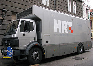 Croatian Radiotelevision - HRT's outside broadcasting truck