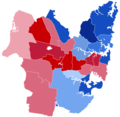 Results of the 2016 Federal Election in Sydney, (shaded) .png
