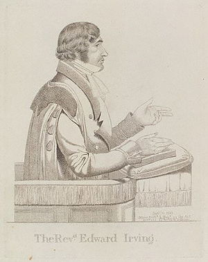 Edward Irving - Edward Irving, in a sketch published in September 1823.