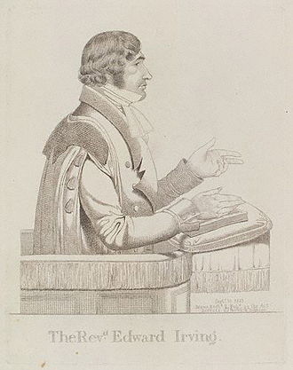 Edward Irving - Edward Irving, in a sketch published in September 1823.
