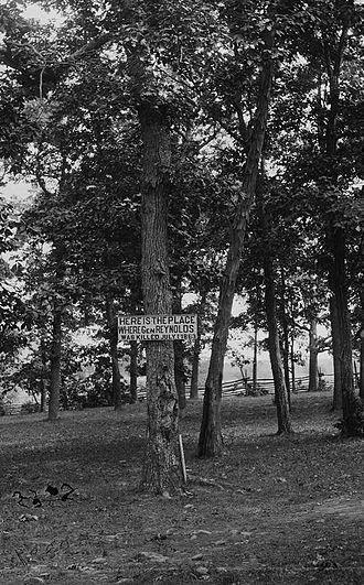 John F. Reynolds - Possible location of General Reynolds' death