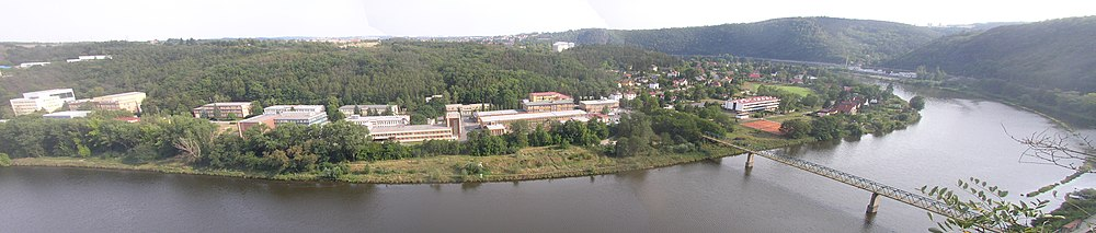 Panorama of Řež with nuclear research centre
