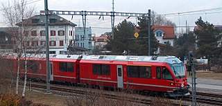 Bonaduz (Rhaetian Railway station) Swiss train station
