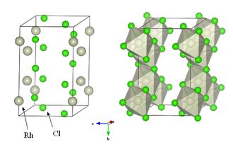 Rhodium(III) chloride - Image: Rhodium trichloride structure