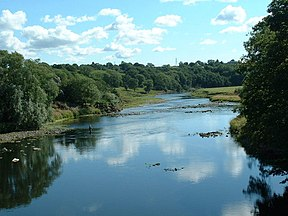 Die Ribble in Ribchester.