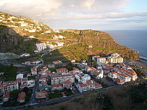 Ribeira Brava, Madeira - Main centre of Ribeira Brava along the valley of the same name, and at the coast