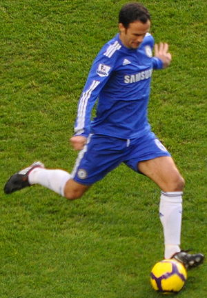 Ricardo Carvalho - Ricardo Carvalho in a Premier League game against Fulham on 28 December 2009.