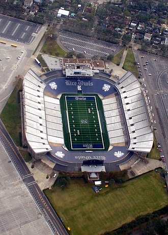 Rice Stadium (Rice University) - Image: Rice University Stadium