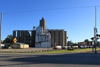 Britton, Michigan - Image: Ridgeway Township Britton Elevator