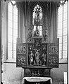 """Rieden - Rosengarten evangelische Marienkirche Hochaltar geöffnet um 1510 Darstellung """"Verkündigung, Christis Geburt, Anbetung der Heiligen drei Könige, Marienkrönung"""".jpg"""