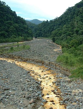 Braulio Carrillo National Park - Súcio River, during dry weather in the park.