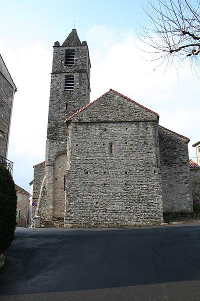 Riols (Hérault) - église Saint-Pierre - chevet et clocher.