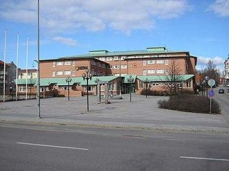 Ljusdal Municipality - Ljusdal Municipality Building on Rio square