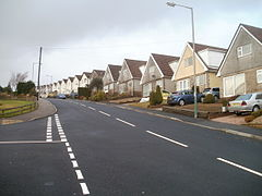 Risca- looking up Cotswold Way from the corner of Pentland Close (geograph 2232182).jpg
