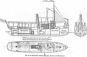 MV Liemba - A diagram of Hedwig von Wissmann