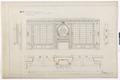 Ritning stora salongen, Hallwylska palatset - Hallwylska museet - 102162.tif