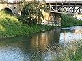 River and railway bridge in Brno.JPG