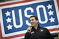 Rob Riggle performs at a USO show at Incirlik, Turkey (15368009174).jpg