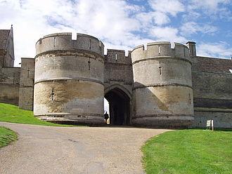 Rockingham Castle - The main gateway at Rockingham Castle