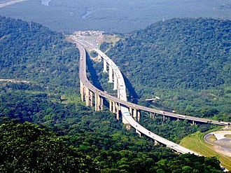 Brazilian Highway System - The SP-160, or Rodovia dos Imigrantes