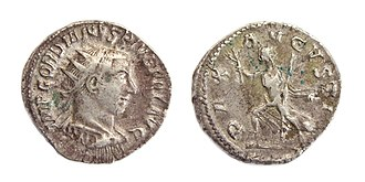 Pax Romana - AR Antoninianus of Gordian III, struck Antioch 243-244 AD with Pax Augusta on the reverse