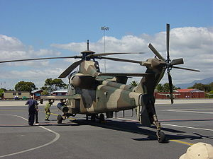 Denel Rooivalk - A Rooivalk at AFB Ysterplaat in Cape Town, South Africa
