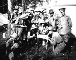 Scouting in Russia - Russian Boy Scout camp. Before 1917