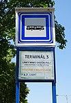 Ruzyně, K letišti, zastávka Terminál 3, ČSAD výstupní.jpg